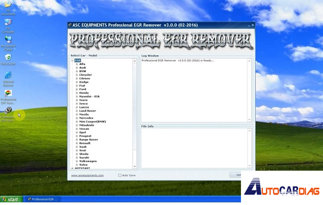 Install and activate the professional DPF EGR removal software