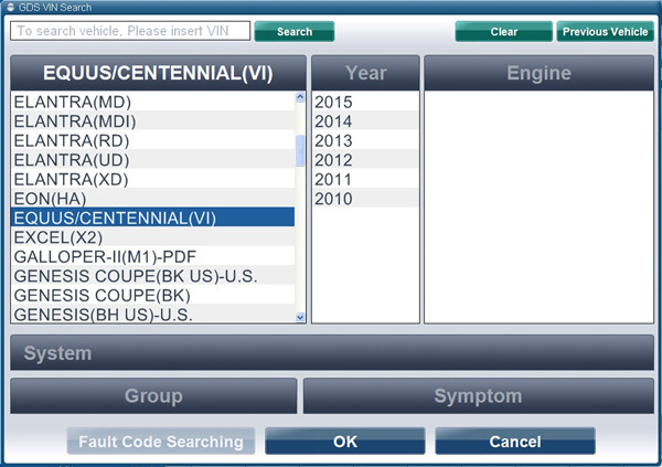 hyundai gds vci interface