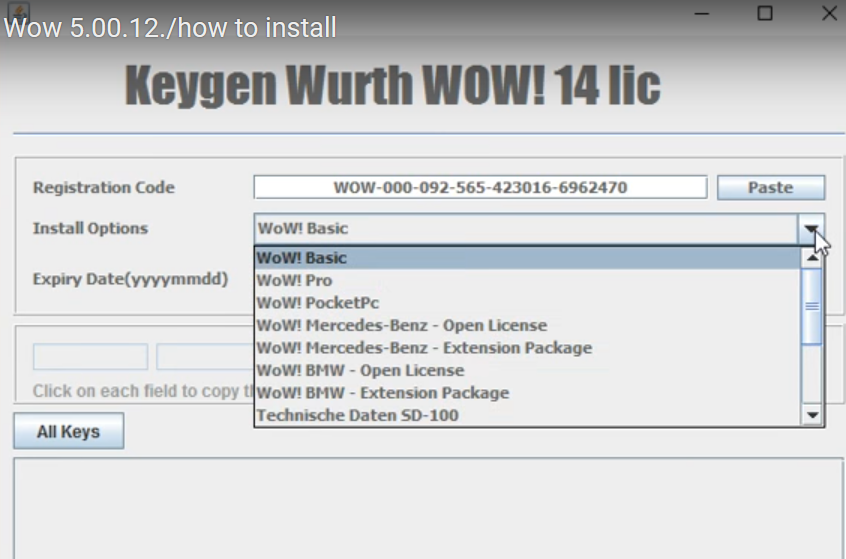 Wurth Wow 5.00.12 Keygen