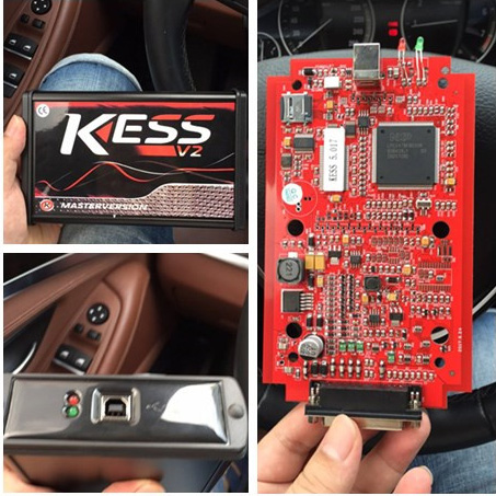 Kess V5.017 Master EU version Red PCB VS Kess V5.017 green PCB