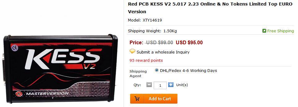 Red KESS 5.017 Promation