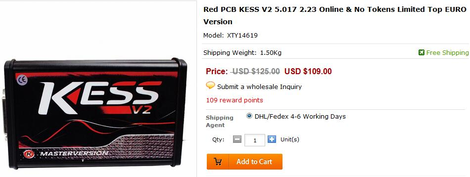 Red PCB KESS V2 5.017 EU